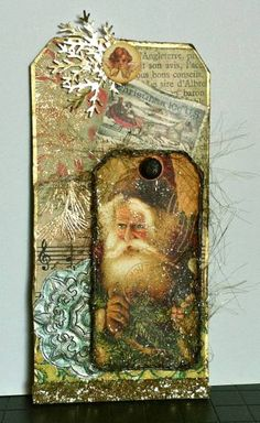Santa Collage Tag by tweedcurtain - Cards and Paper Crafts at Splitcoaststampers