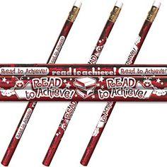 Read To Achieve! Sparkle Foil Pencil  Item # PL-727E. Test motivation???