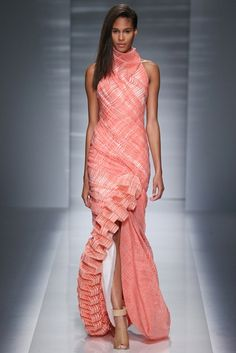 At Vionnet, a coral spinal column extends all the way down the leg.