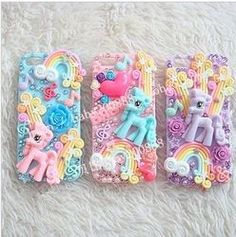 Online Shop Free Shipping Jewelry Deco Kit ,My Little Pony DIY 3D Phone Case Decoration Kit for IPhone|Aliexpress Mobile