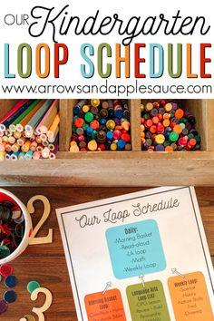 Our Kindergarten Loop Schedule