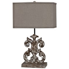 """French Regent Lewiston 26"""" H Table Lamp with Rectangular Shade"""
