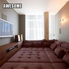 This would be so cool for a basement family room!