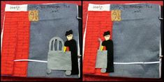 Harry Potter quiet book page - Slide Harry along the ribbon through Platform 9 3/4