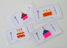 uitnodiging verjaardagsfeestje / knutselen met kleuters / strijkparels Birthday Wishes Cards, Birthday Invitations, Fuse Beads, Perler Beads, Diy For Kids, Crafts For Kids, Hama Beads Design, Karten Diy, Iron Beads