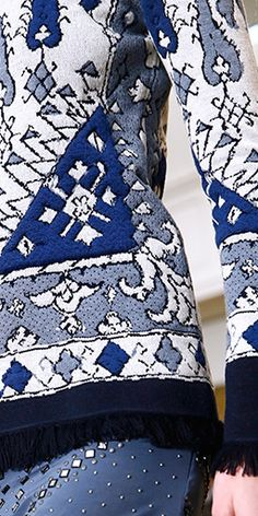 A tapestry pattern, intricately translated into a textured knit jacquard #toryburch #toryburchfall15  #nyfw