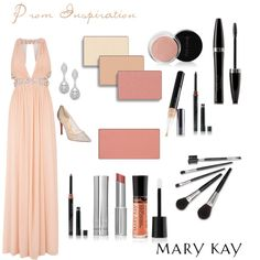 Prom Inspiration - Neutral by natalie-edmondson on Polyvore featuring beauty, Mary Kay, Christian Louboutin, RedCarpet, Prom and neutral