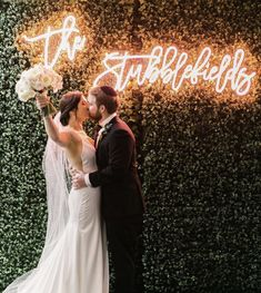A custom neon sign for your wedding reception makes for the best photos! Perfect Wedding, Fall Wedding, Wedding Ceremony, Dream Wedding, Wedding Signs, Diy Wedding, Neon Led, Wedding Goals, Getting Married