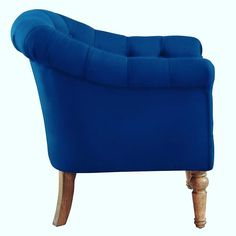 Welbeck Accent Chair in Blue Bucket Chairs, Tufting Buttons, Blue Velvet, Accent Chairs, Upholstery, Legs, Luxury, Creative, Furniture