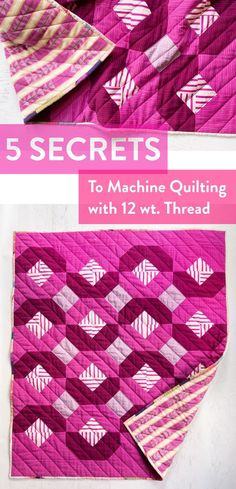 Get this same look as this Glitter & Glow quilt when you machine quilt with 12 wt thread Quilting Thread, Longarm Quilting, Free Motion Quilting, Quilting Tips, Quilting Tutorials, Hand Quilting, Machine Quilting, Quilting Projects, Quilting Designs