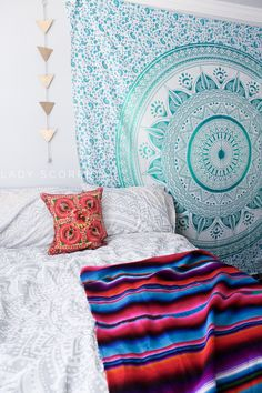 Every Lady Scorpio Mandala Tapestry is designed to create good vibes & positive energy. A Tapestry is a heavier, decorative textile created to be used as a wall hanging, or wherever your creative soul Dorm Tapestry, Tapestry Bedroom, Mandala Tapestry, Tapestry Wall Hanging, Hippie Tapestries, Wall Hangings, Bohemian Tapestry, Hippie Bohemian, Unique Home Decor