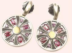 """Carmesina"" pendant earrings Xavier del Cerro Jewelry, Barcelona"