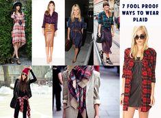 7 chic ways to wear plaid