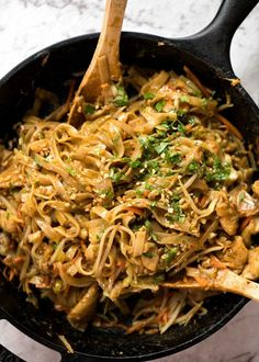 Noodles tossed in a peanut sauce with vegetables and your choice of protein! With the hint of curry flavour, the peanut sauce tastes like satay peanut stir fries you get at Chinese restaurants