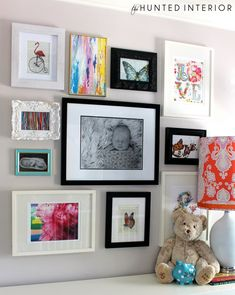 gallery-wall for kid  toddler bedroom-love it!