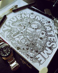 Your mom hates me dsgn doodle art, doodles и drawings Illustrations, Illustration Art, Cool Doodles, Doodle Art Journals, Doodle Inspiration, Journal Inspiration, Kawaii, Doodles Zentangles, Posca