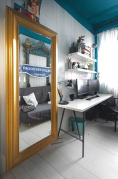 Un plafond couleur bleu canard - FrenchyFancy
