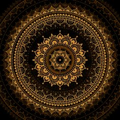 Mandala by Katya Ulitina, via Behance