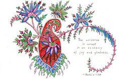 Bahai Greeting Card -- Universe. by Bahai Breezes on Etsy