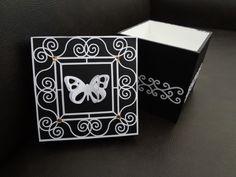 Caixa de mdf com decoração scrap decor