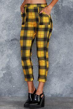 Tartan Grunge Cuffed Pants - 7 DAY UNLIMITED ($110AUD) by BlackMilk Clothing