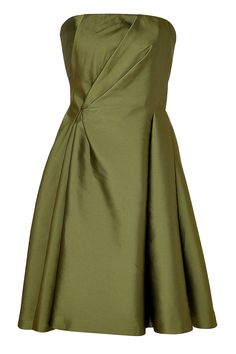 A pretty choice for after dark, Alberta Ferretti's strapless dress features soft gathered side detailing and a dressy satin finish.