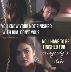 I love Aria and Ezra <3 but do like her and jake too. Just ezria more. Maybe aria and jake could date again while Ezra is trying to win her back and ta da! He does! They are so endgame.