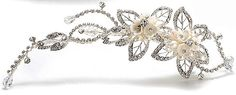 Crystal and Pearl Filigree Spring Clip