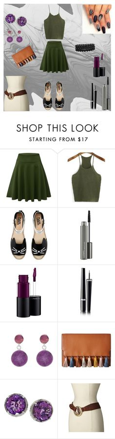"""Feeling cute"" by dadacollins on Polyvore featuring WithChic, Karl Lagerfeld, MAC Cosmetics, Chanel, Pomegranate, Rebecca Minkoff, Effy Jewelry, Leatherock and Bling Jewelry"