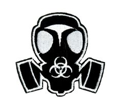 - Gas Mask Applique Iron On Patch - 100% Cotton - Well made, greatly embroidered and neatly stitched. - Just iron on any fabric you like - Turn your ordinary clothes or bags into something that stands