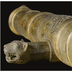 An Extremely Rare Indian Bronze Cannon cast by Ahmad Pali, for Tipu Sultan, dated Mawludi year 1219, sold for £313,250 (est.120,000-150,000) achieving the second highest price of the group.