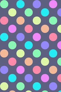 iPhone wallpaper - lunares arcoiris