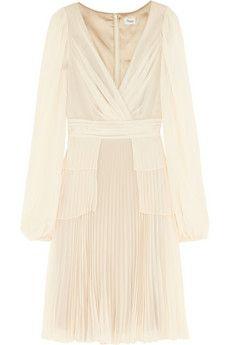 Serena pleated chiffon dress