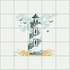 simple X-stitchlighthouse