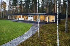 Moderni huvila Suomessa   Modern wooden home in Finland   Honkatalot