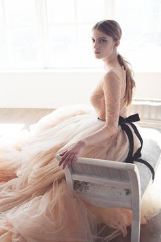 Nude tulle wedding skirt // Peony by MywonyBridal on Etsy Tulle Wedding Skirt, Dream Wedding Dresses, Bridal Shoot, Bridal Gowns, Neutral Wedding Colors, Bridal Separates, Long Sleeve Wedding, I Dress, Boutiques