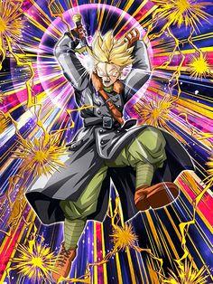 [Time´s Guidance] Super Saiyan Xeno Trunks/Dragon Ball Z: Dokkan Battle Dragon Ball Gt, Dragon Z, Art Anime, Anime Manga, Xeno Trunks, Trunks Dbz, Alice In Wonderland Characters, Ssj3, Graphic Artwork