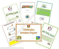 Childminder START-UP READYMADE PAPERWORK BUMPER PACK register,diary,contracts