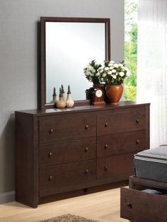 Coaster Furniture Maddison Drawer Dresser with Crowned Top