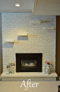 How to Paint a Brick Fireplace | An, Fireplaces and House