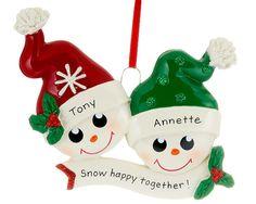 Two Happy Snowman Faces