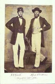 Wallace and Frederick Geach in Singapore, 1862. Copyright Wallace Memorial Fund.