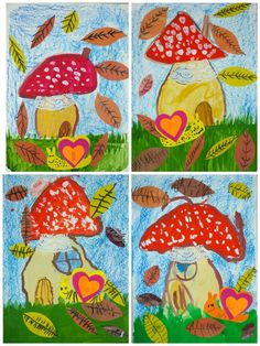 Kindergarten Art, Preschool Art, Craft Activities For Kids, Kids Crafts, Art Drawings For Kids, Kids Artwork, Art For Kids, Autumn Art Ideas For Kids, Fall Art Projects