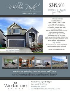 Real estate open house flyer template microsoft publisher learn more about this willow park home for sale and search all marysville real estate pronofoot35fo Gallery