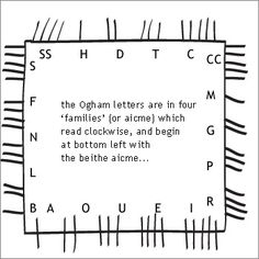 """Although strongly associated, indeed often referred to as the """"Celtic Tree Alphabet"""", Ogham is a distinct medieval tradition that uses the names of trees to denote its individual letters in a written alphabet. Since Ogham of itself covers neither the mythology nor botanical lore of trees, it is better understood as an 'add-on' to the subject of the tree alphabet, and not as an explanation or umbrella to it.    ogham stoneThe Irish og-úaim ('point-seam'), refers to the ridge or groove made…"""
