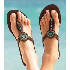 african  leather beaded sandal 9