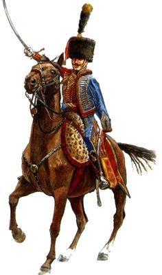 French 9th regt. Hussar officer,