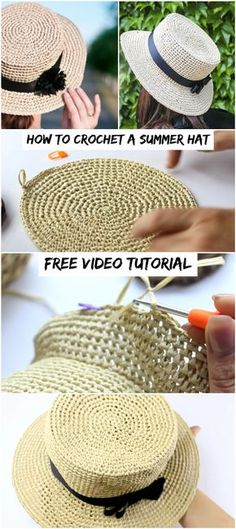Crochet accessories 466896686369561434 - How To Crochet A Summer Hat – Crochetopedia Source by namastbientre Bonnet Crochet, Crochet Beanie, Knit Or Crochet, Crochet Crafts, Crochet Projects, Free Crochet, Sewing Projects, Knitting Patterns Free, Crochet Patterns