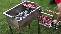 Mangal mit Motor Barbecue Design, Grill Design, Barbecue Grill, Küchen Design, Pizza Oven Outdoor, Outdoor Cooking, Homemade Bbq Grills, Parrilla Exterior, Bbq Stand
