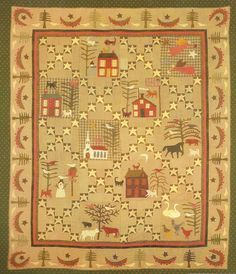 Jan Patek - The Winter Quilt.  I love the vintage look of this quilt!  Don't know where it would go in my house, may have to make a spot!